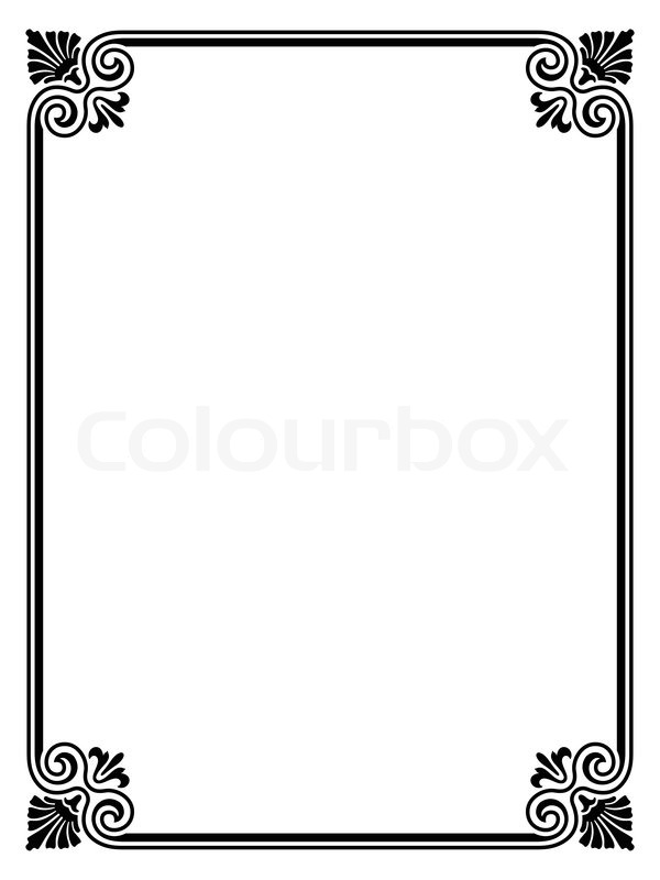 Vector simple black calligraph ornamental decorative frame pattern ...