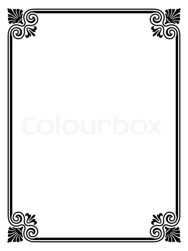simple black frame png. Stock Vector Of \u0027Vector Simple Black Calligraph Ornamental Decorative Frame Pattern\u0027 Png