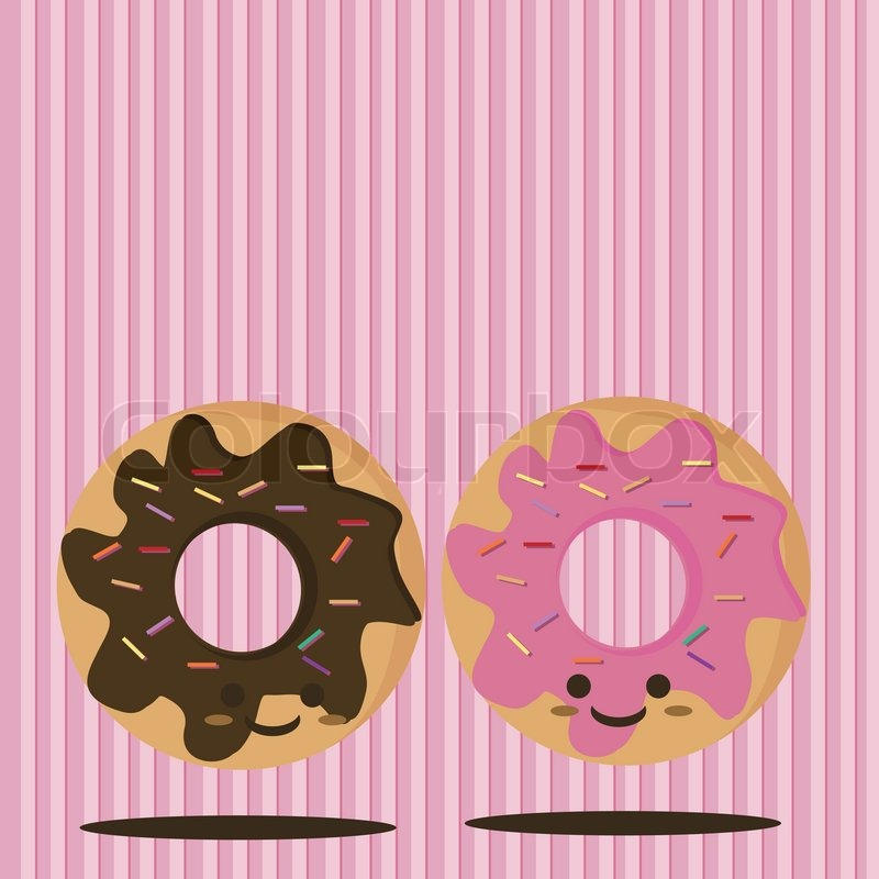 Cartoon Doughnut Factory: Cartoon Smiling Donut