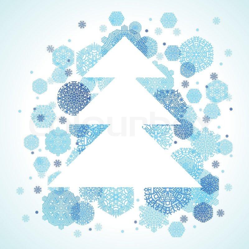 weihnachtsbaum schneeflocken blau abstrakten hintergrund. Black Bedroom Furniture Sets. Home Design Ideas