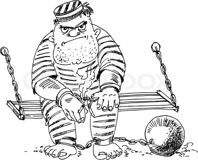 Prison inmate, vector illustration | Stock Vector | Colourbox