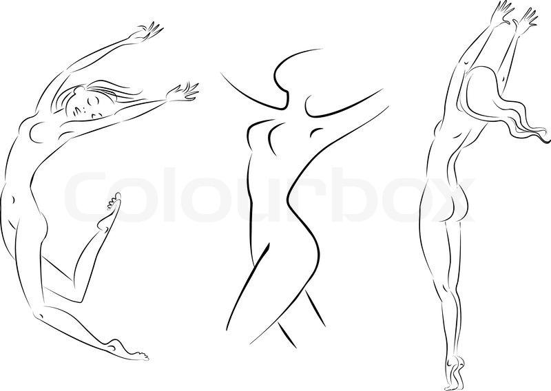 Силуэт девушки со спины рисунок