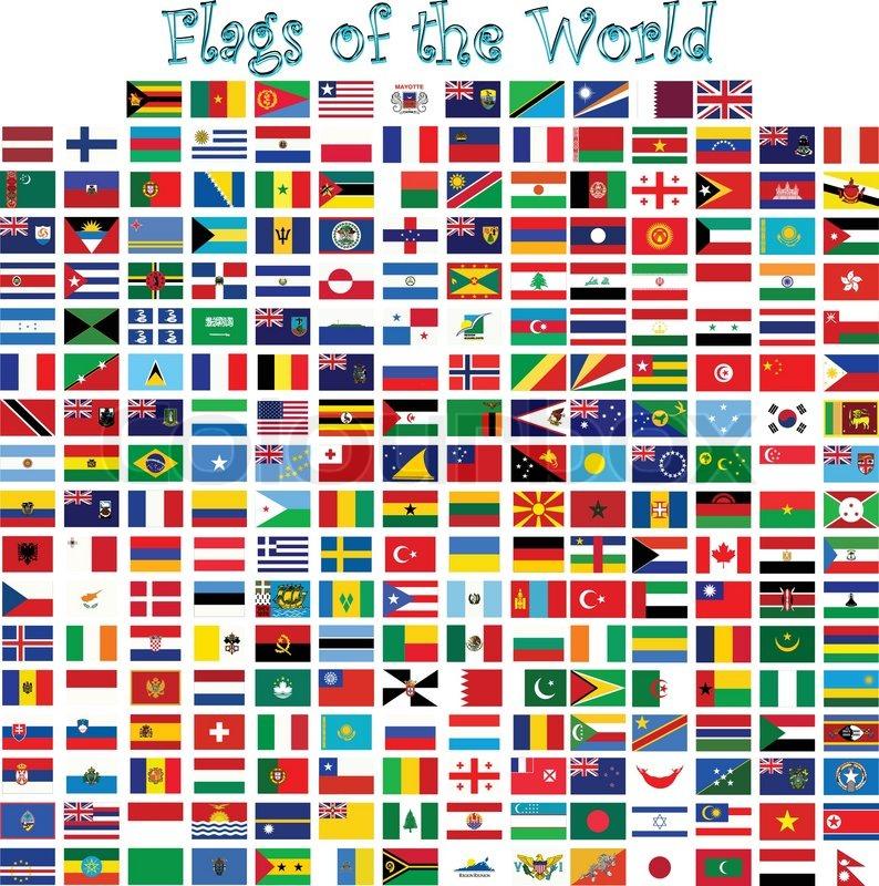 europas flag med navn