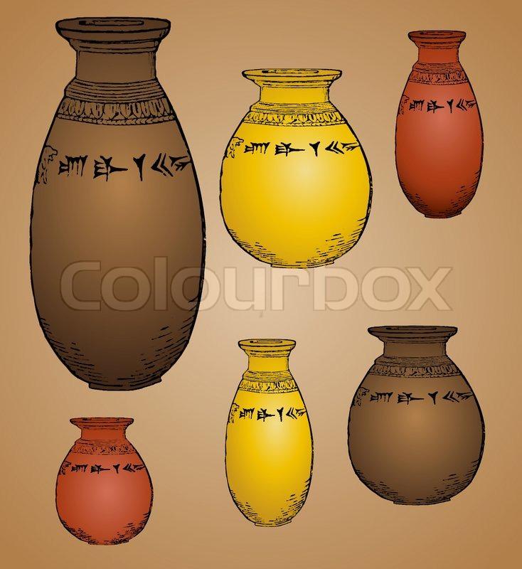 Ancient Vases Stock Vector Colourbox