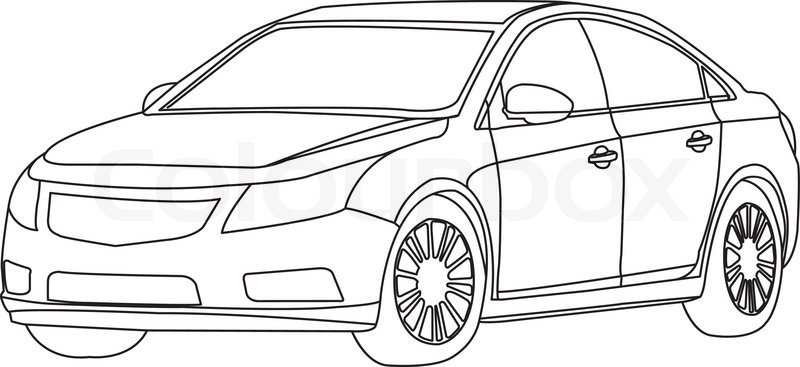 Car Outline Vector