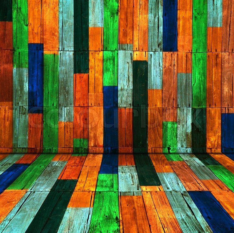 Candy Color Old Wood Room Background