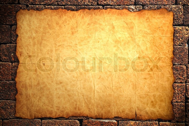 Old Notebook Paper On Wall Background Stock Image Colourbox