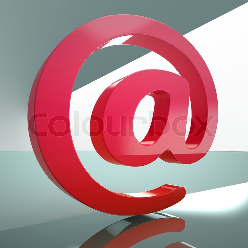 At Sign Meaning E Mail Symbol For Message Stock Photo Colourbox