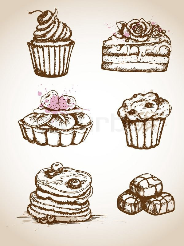 Birthday Cakes Clipart Black And White