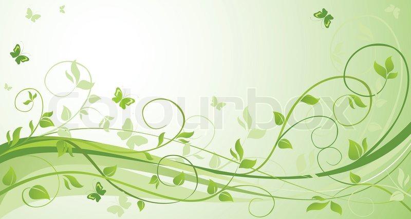 Green wedding background