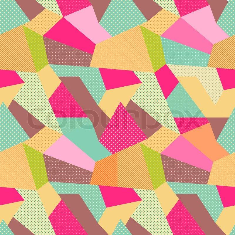 indian seamless patchwork muster vektorgrafik colourbox. Black Bedroom Furniture Sets. Home Design Ideas