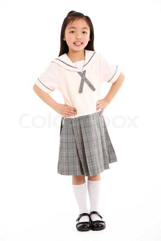 moden kvinde skolepige uniform
