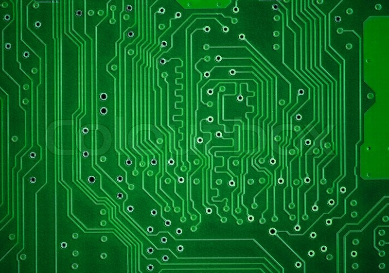 Green circuit plate background | Stock Photo | Colourbox