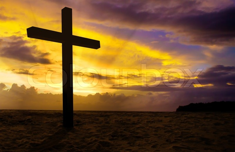Christian cross on sunset background | Stock Photo | Colourbox Religious Cross Backgrounds