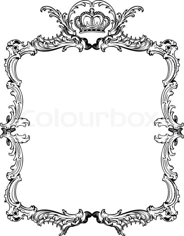 decorative vintage ornate frame vector illustration stock vector rh colourbox com ornate frame vector png ornate frame vector png