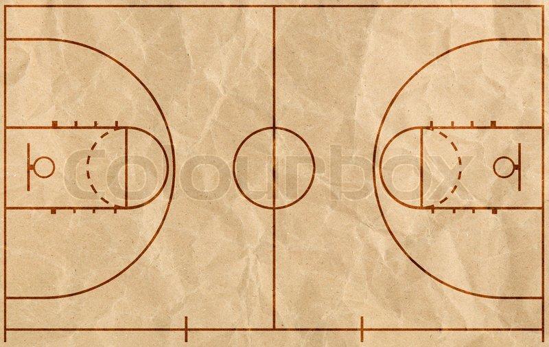 Basketball Court Stock Photo Colourbox