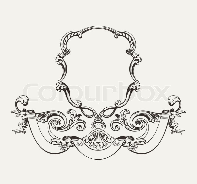 Antique Luxury High Ornate Frame And Banner | Stock Vector | Colourbox
