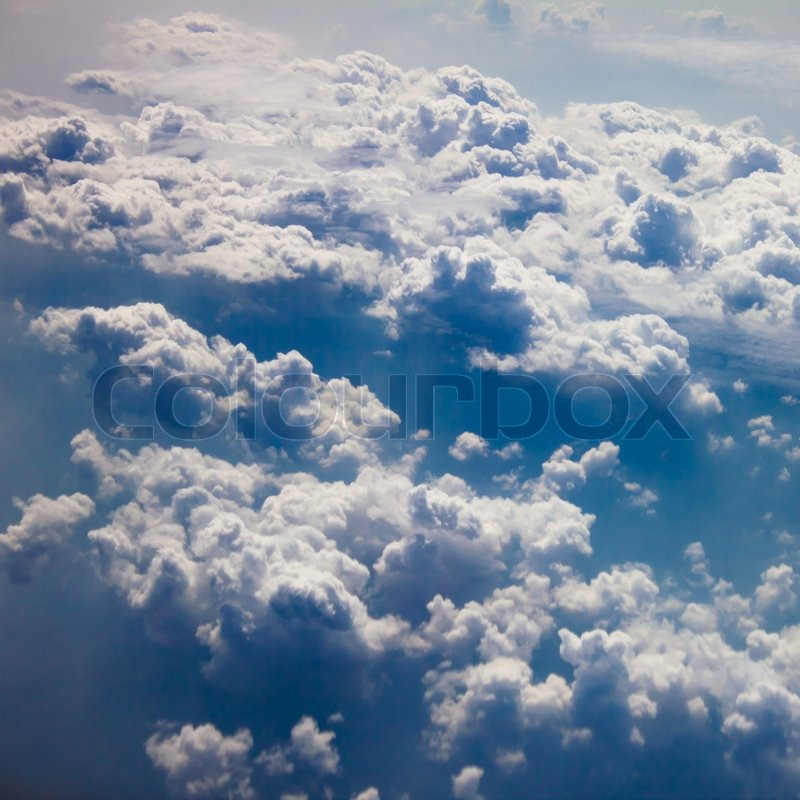 Cloud from above point of view, stock photo