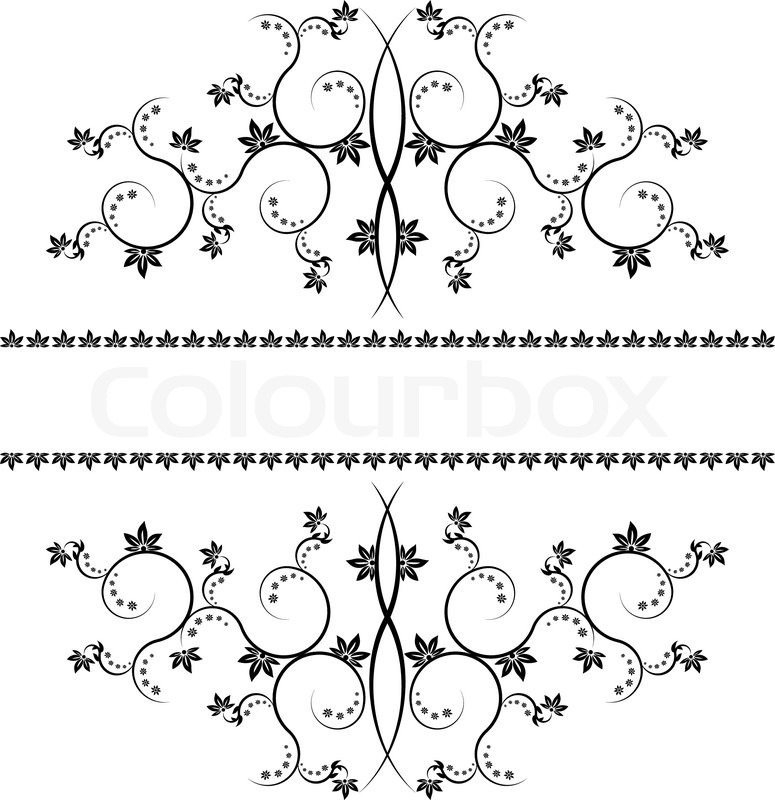 Frame With Monograms For Design And Decorate