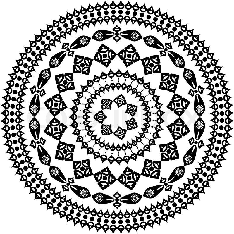 orientalischen arabesken muster runde  vektorgrafik