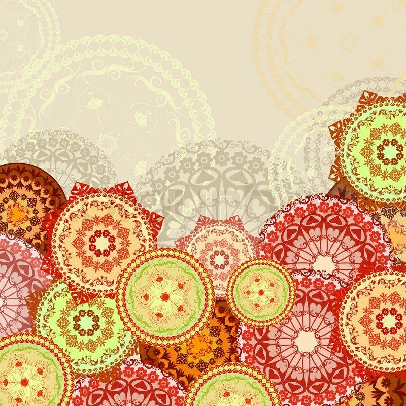 Mandala Hintergrund Vektorgrafik Colourbox
