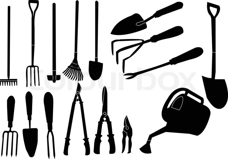 Tool gardener stock vector colourbox for Industrial garden tools