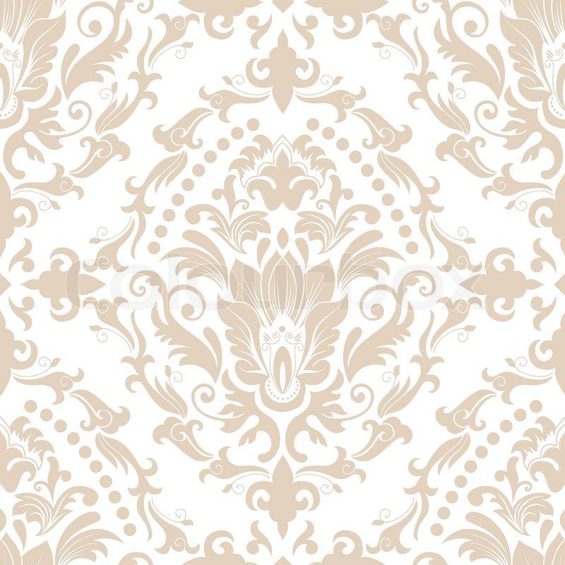 Vector Damask Seamless Pattern Element Elegant Luxury