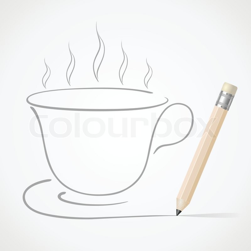 how to draw a coffee cup step by step
