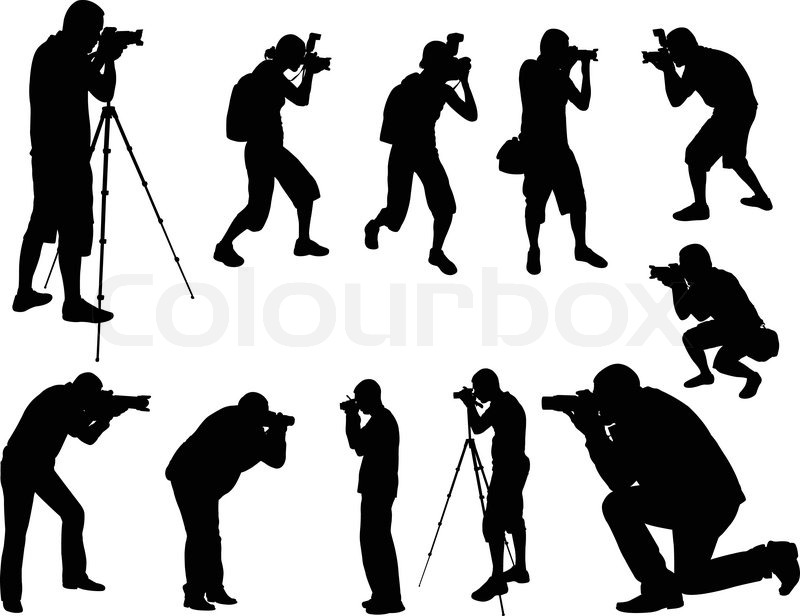 photographers silhouettes collection vector vector