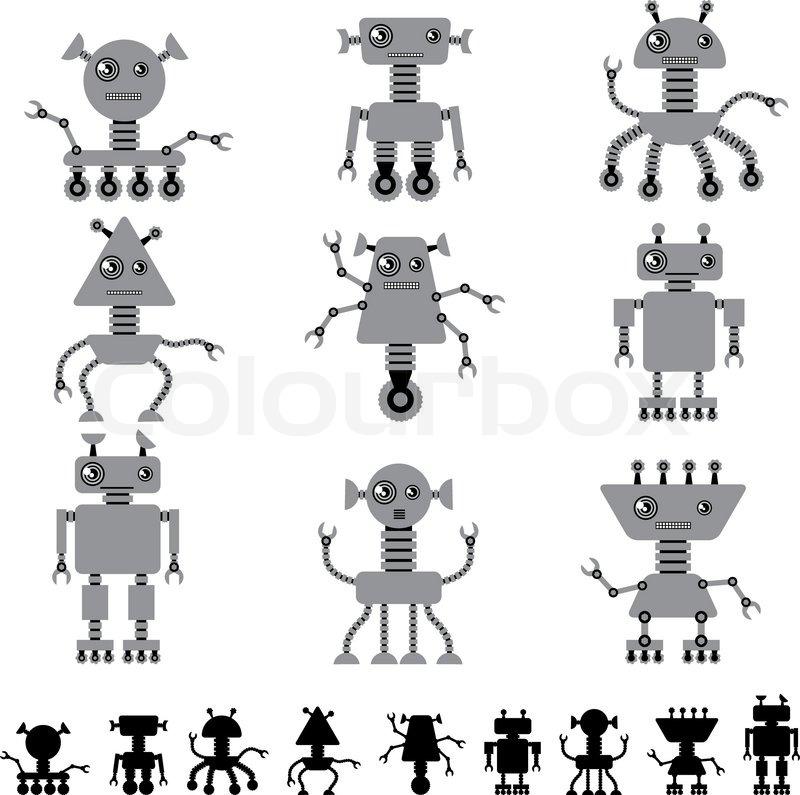 Cute Robot Doodles Little Abstract Robot Doodle