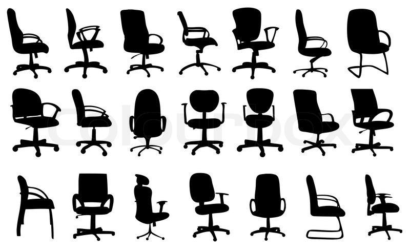 Ergonomischer bürostuhl grafik  Nahtlose Muster von Bürostühle Silhouetten Vektor illustratio ...