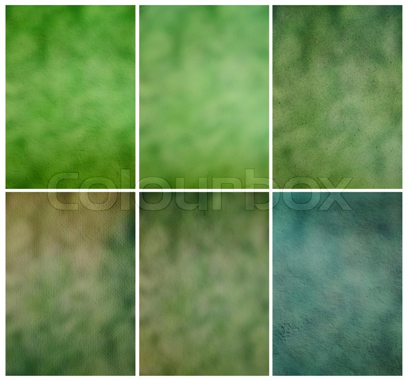 Paper texture, Collection green grunge background template for design work, stock photo