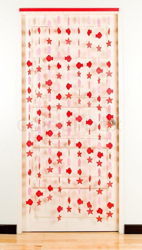 gardin til dør Stribet linje i fisk form gardin for dekorere din dør | stock foto  gardin til dør