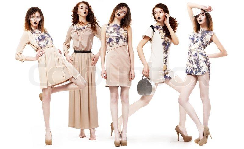 063628d5 Collage af trendy kvinder i Light ... | Stock foto | Colourbox