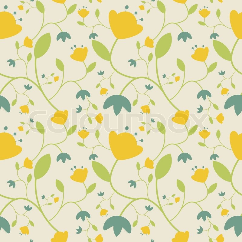yellow floral pattern - photo #12