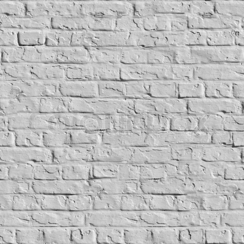 Old White Brick Wall Seamless Tileable Texture Stock