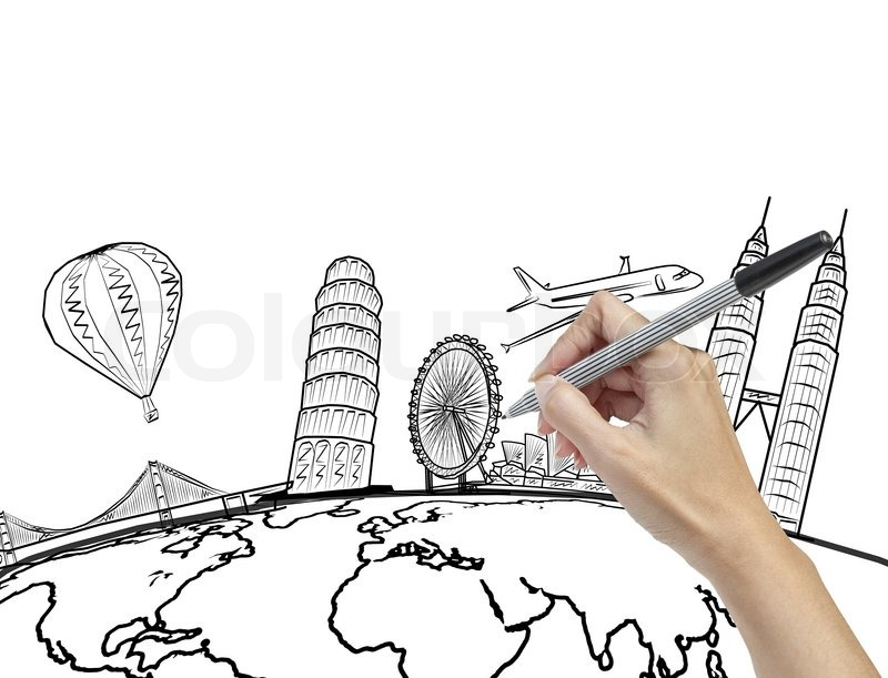 Gallery: Line Drawing Of The World, - Drawings Art Gallery
