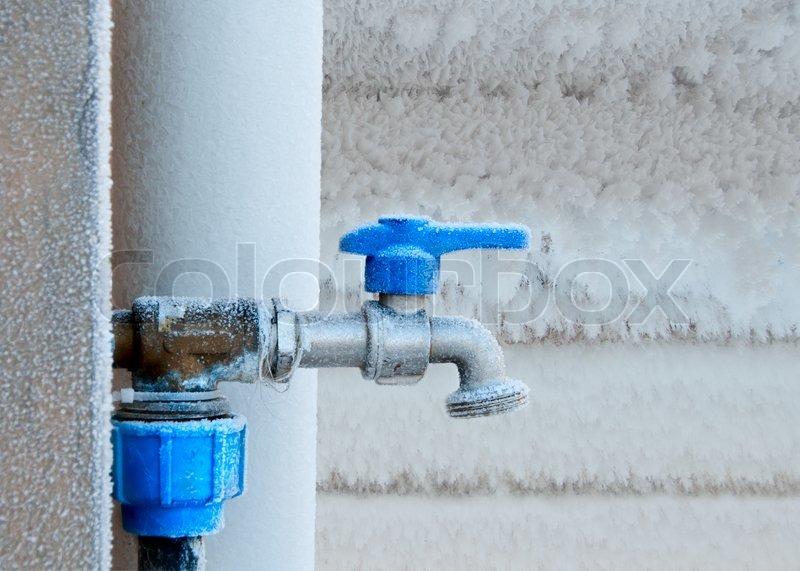 Stock Bild Von U0027Outdoor Wasserhahn Frostedu0027