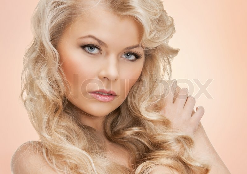 Stock image of 'Beautiful woman with long hair'