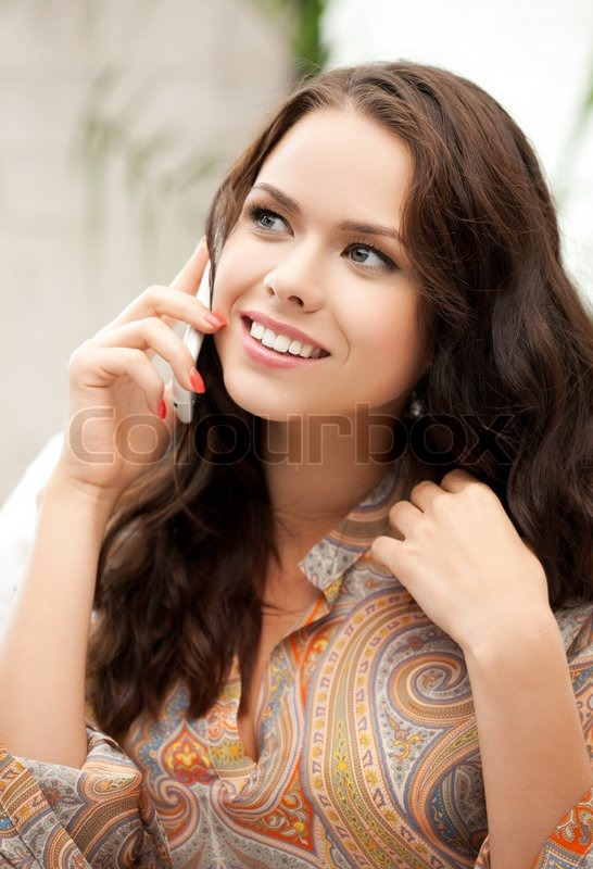 Stock image of 'Woman with mobile phone'