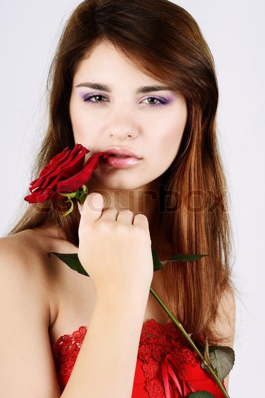 Stock image of 'With rose'
