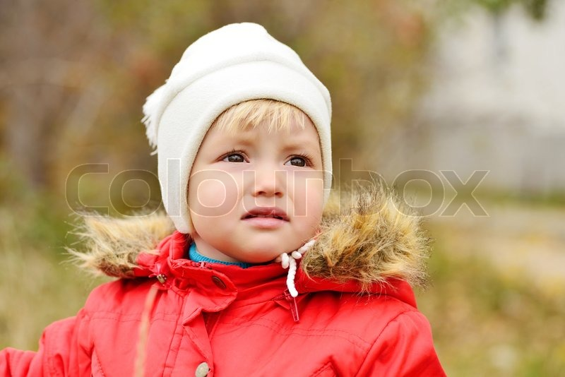 Stock image of 'Sad baby girl'