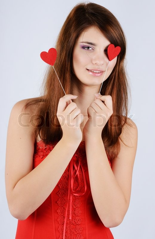 Stock image of 'Valentine girl'