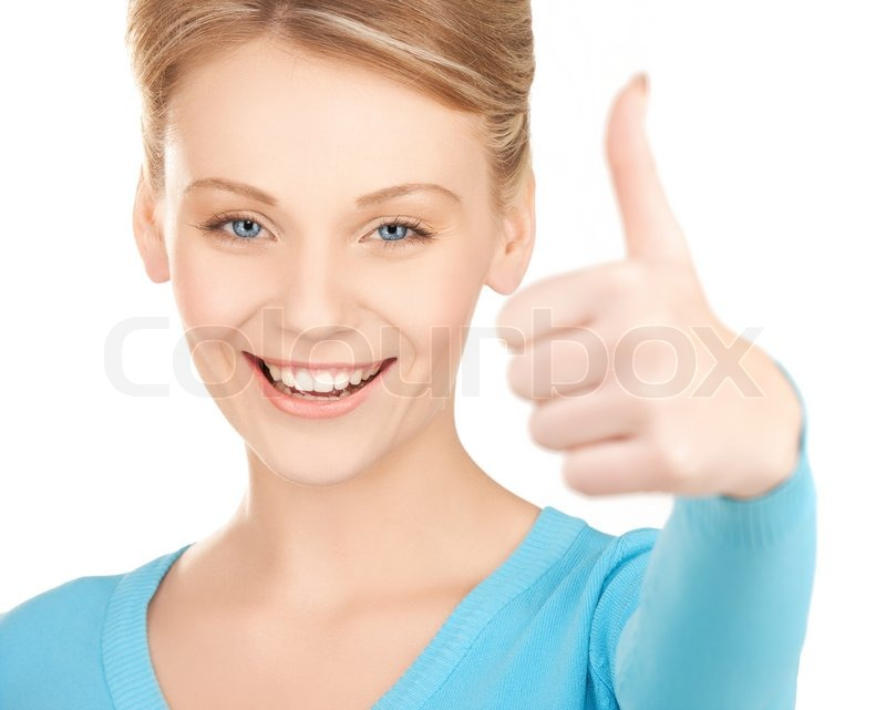 Stock image of 'Thumbs up'