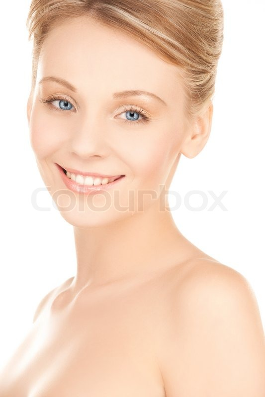 Stock image of 'Beautiful woman with updo hair'