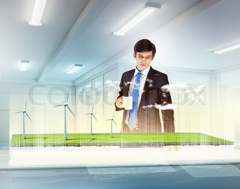 Stock image of 'Environmental problems and high-tech innovations'