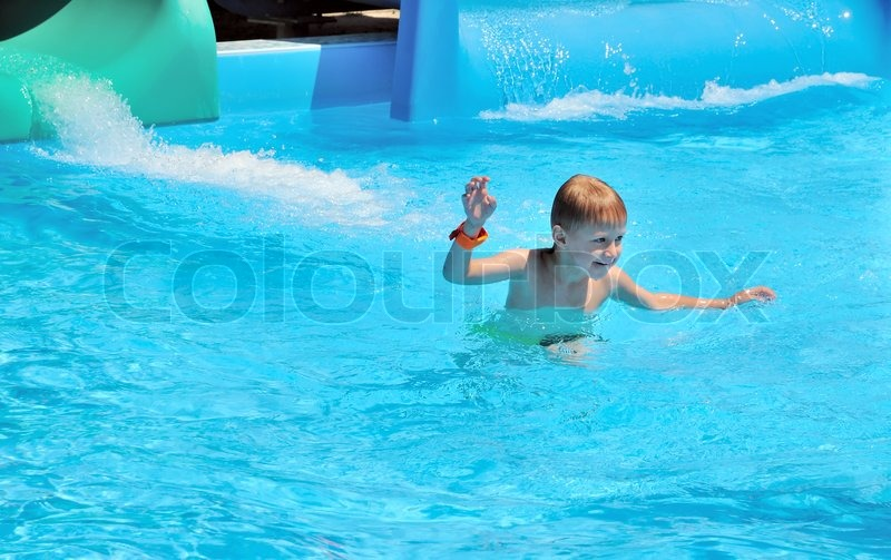 Stock image of 'Just from the water slide'