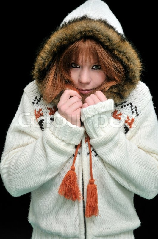 Stock image of 'Frozen redheaded girl'