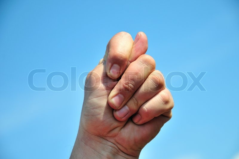 Stock image of 'Stick 2 fingers up at someone'