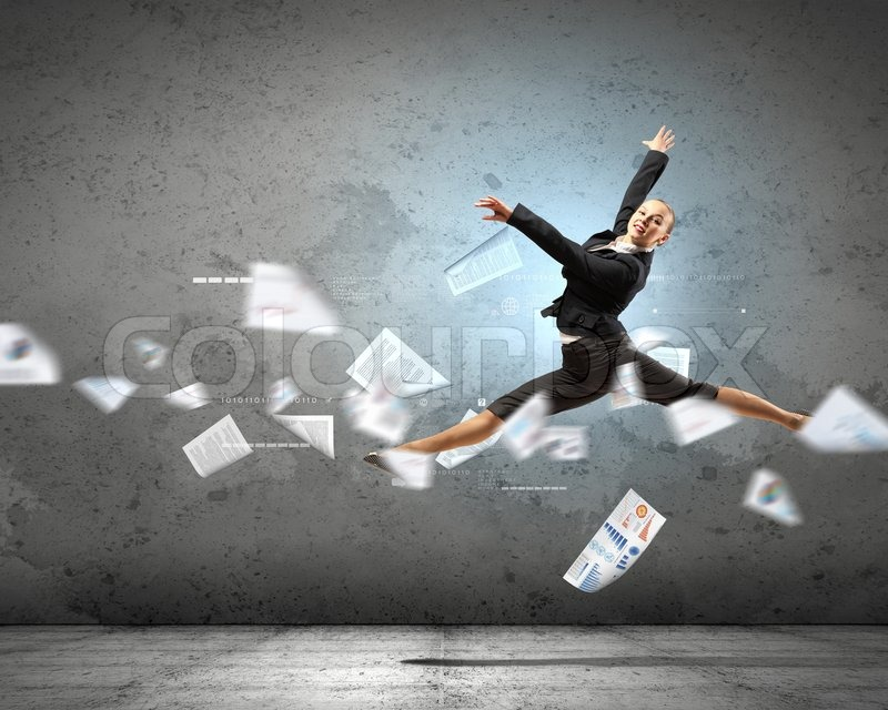 Stock image of 'Image of pretty businesswoman'
